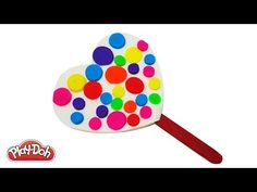 Play Doh How to Make a Rainbow Heart Ice Cream Popsicle DIY Fun Happy Rainbow Rainbow Heart, Play Doh, Popsicles, Ice Cream, Happy, Fun, How To Make, No Churn Ice Cream, Pallets