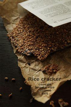 Rice cracker 雑穀入り玄米ごはんの残りでおせんべ