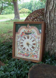 Clock Handstitched Case Clock Historic by AntiquesandVaria on Etsy, $86.20