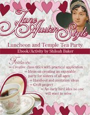 Jane Austen is known for her romanticism and the lighter style of classic fiction novels that she blessed us with. Just in time to celebrate love, this Relief Society luncheon is Valentine's themed but it also features practical classes (and information) to go along with the Jane Austen style. What is a Jane Austen luncheon without a tea party? You can add the ideas for the tea party or do one or the other.