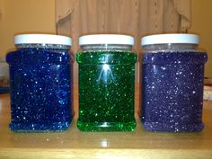 Just finished making three Calming Mind Jars for my kids (one is high-functioning Autistic). These seem to help him calm down when he is on the verge of a meltdown. Instructions can be found here: http://www.herewearetogether.com/2011/06/27/another-mind-jar/
