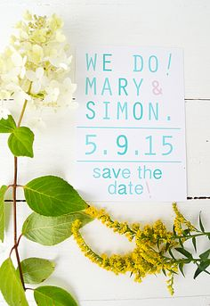 "Wedding invitation by Elina Dahl. ""save the date"" shop.elinadahl.com"