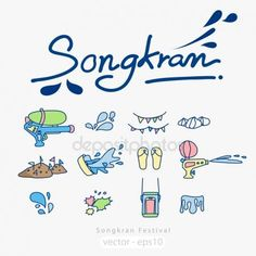 th Vector Stock Images, Royalty-Free Images vectors for personal and commercial use - Songkran Festival Icons
