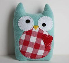 cute little fleece owl pillow