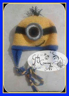 Gorro de #minium tejido a mano