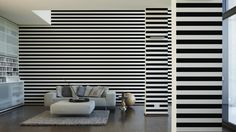 Schöner Wohnen Tapete 225146; simuliert auf der Wand