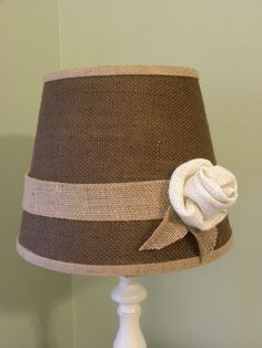 Chocolate Burlap Lamp Shade by jddesigns2319 on Etsy, $36.00