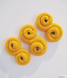 virkat Crochet Food, Knit Crochet, Swedish Christmas, Play Food, Educational Toys, Baby Toys, Free Pattern, Crochet Earrings, Crochet Patterns