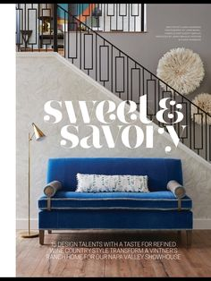 """""""Sweet & Savory"""" from Traditional Home, Oct/Nov Read it on the Texture app-unlimited access to top magazines. Wine Country, Country Style, Staircase Remodel, Porch Swing, Traditional House, Outdoor Furniture, Outdoor Decor, Stairs, Magazines"""