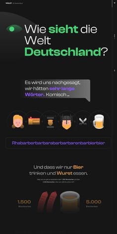 Hilarious Landing Page by Weglot depicting how the world sees Germany. This is a great reference to a fun (and potentially viral) marketing page while upselling a product/service, and in this case Weglot multi-language website translations.