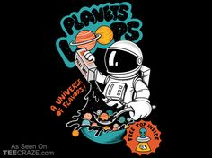 Planets Cereal T-Shirt - http://teecraze.com/planets-cereal-t-shirt/ -  Designed by Coffeeman    #tshirt #tee #art #fashion #TCRZ #clothing #apparel