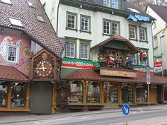 Triberg, Germany. Love love this quaint town located in the Black Forrest of Germany. Famous for it's cuckoo clocks.