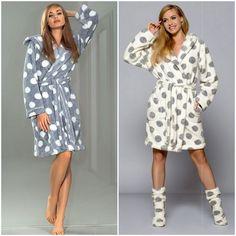 peignoir court Luxe femme doux confort DARCY L&L Pillou Polaire S M L XL Winter Gowns, Bath Robes For Women, Nightwear, Night Gown, Blouse Designs, Underwear, Lingerie, Stylish, How To Wear