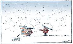 Hay momentos en los que uno no distingue si es nieve o caspa