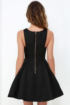 Gift of Rhyme Black Skater Dress at Lulus.com!