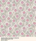 Fat quarter Patchwork Quilting Fabric Makower Downton Abbey Lady Sybil 7326 E fq