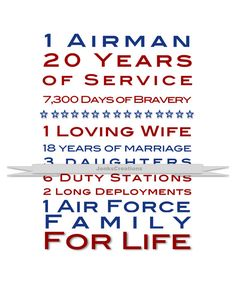 Air Force Custom Print. Great Gift Idea for Retirement! on Etsy, $9.00