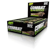 Muscle Pharm Combat Crunch Bars, Chocolate Cake, 12 Count