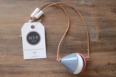 Pendant made of porcelain and Italian leather by meratelier, €45.00