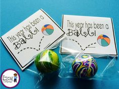 It's Been a Ball! End of The Year Student Gift Tag Download!