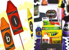 Crayon Themed Birthday Party - Many Ideas
