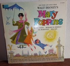 WALT DISNEY'S STORY AND SONGS FROM MARY POPPINS  1964 DISNEYLAND LP W/STORYBOOK