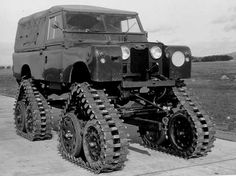 Cuthbertson tracked Series Land Rover under test.