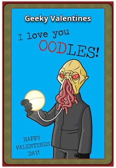 We're finally in February (the month of love) and Valentine's Day is around the corner! Herewith the NerdiPop top 30 Geeky Valentines Cards and sayings for I Love You, My Love, Happy Valentines Day, Pop Culture, Fun Facts, Sci Fi, Geek Stuff, Baseball Cards, Comics