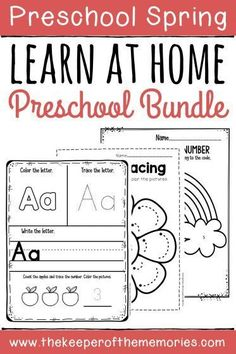 If youre looking for Spring Preschool Home Learning printables & activities, then youre definitely going to want to keep Sensory Activities Toddlers, Preschool Learning Activities, Preschool At Home, Preschool Themes, Home Learning, Preschool Worksheets, Educational Activities, Kids Printable Activities, Preschool Schedule