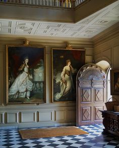 The Entrance Hall The house was built in 1610 by Sir Thomas Vavasour, Knight Marshal to James I. It originally comprised an… Entry Hallway, Entrance Hall, English House, Step Inside, 18th Century, Knight, Cosy, Mansions, Building