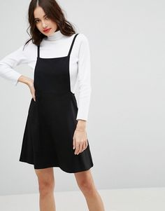 ASOS Mini Pinafore Dress with Strappy Back at asos.com fbb4301ede6