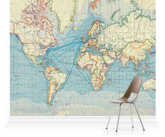 Murals - Shop - Vintage Maps - Surface View