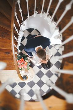Wedding love from above