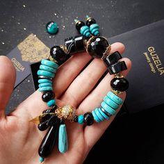 1,081 отметок «Нравится», 9 комментариев — АВТОРСКИЕ УКРАШЕНИЯ •GUZELIA• (@guzelia) в Instagram: «В комплект к серьгам есть вот такой чудесный браслет! Натуральная бирюза, черный оникс, гематит.…»