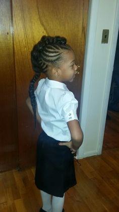 Kids hair with braid #mohawk