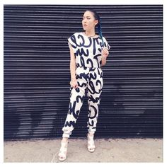 """NEW POST> Stephanie Villa from the Youtube channel """"Soothingsista"""" wearing a matching top and trousers from DailyLook"""