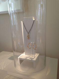 Jewelry displays at the ACJ jewelry atelier. ACJ Jewelry studio www.anacavalheiro.com