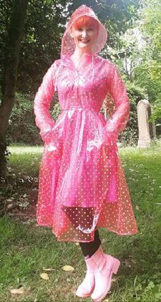Pink Raincoat, Plastic Raincoat, Rain Bonnet, Sims 4 Children, Pink Plastic, Rain Wear, Capes, Harajuku, Rain Jacket