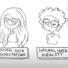 Natural hair expectations vs reality