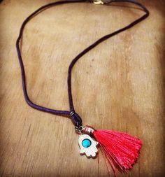 Mano Fátima Tassel Necklace, Tassels, Jewelry, Fashion, Fatima Hand, Hands, Jewlery, Moda, Jewels