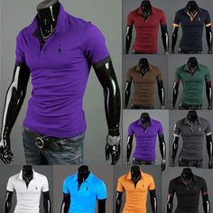 Pin 2016 Summer new Deer men's Fashion Short-Sleeve plus size POLO Shirts men wear Fawn Embroidery Casual Cotton shirt Tees to one of your boards if you like it !