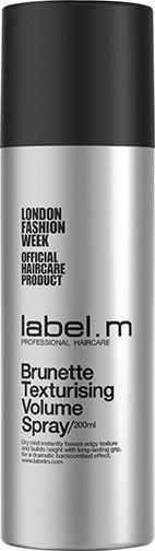 label.m Brunette Texturising Volume Spray - Following the launch of the original Texturising Volume Spray in 2014 which has since become a firm backstage favourite, as well as the third best-selling product in the range, label.m introduces the latest version for 2015 - label.m BRUNETTE Texturising Volume Spray.