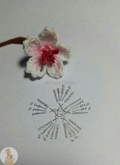Watch The Video Splendid Crochet a Puff Flower Ideas. Wonderful Crochet a Puff Flower Ideas. Marque-pages Au Crochet, Crochet Mignon, Crochet Motifs, Crochet Diagram, Love Crochet, Irish Crochet, Crochet Stitches, Crochet Flower Tutorial, Crochet Flower Patterns