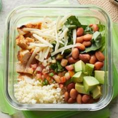 Chipotle Chicken Burrito Bowl with Cauliflower Rice - EatingWell.com