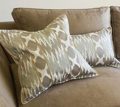 Karlie Ikat Embroidered Pillow Covers #potterybarn  They're called Carly pillow covers :)