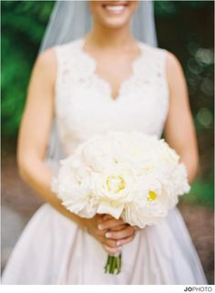 Peony bridal bouquet by Lisa Foster Floral Design.  Photo by @jophotos