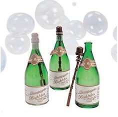 150 CHAMPAGNE BOTTLE BUBBLES GREAT WEDDING PARTY FAVORS NEW
