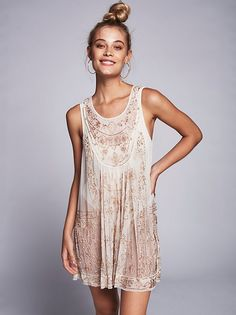 Evie Embellished Slip | Made from a delicate sheer mesh this gorgeous slip features allover bead detailing. This sleeveless silhouette is also shapeless.