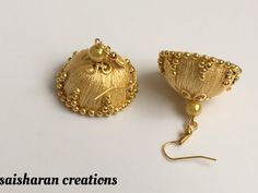 Silk Thread Jhumkas by papersandpassions on Etsy
