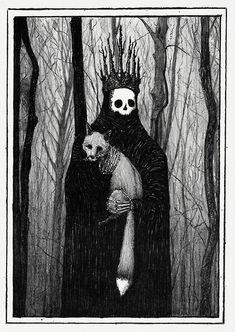 Gravure Illustration, Art Et Illustration, Halloween Illustration, Halloween Drawings, Creepy Halloween, Art Illustrations, Halloween Nails, Arte Horror, Horror Art
